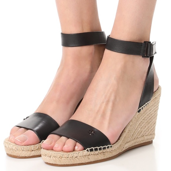 5336e57d7aea Tory Burch Bima Wedge Espadrille Black 8.5